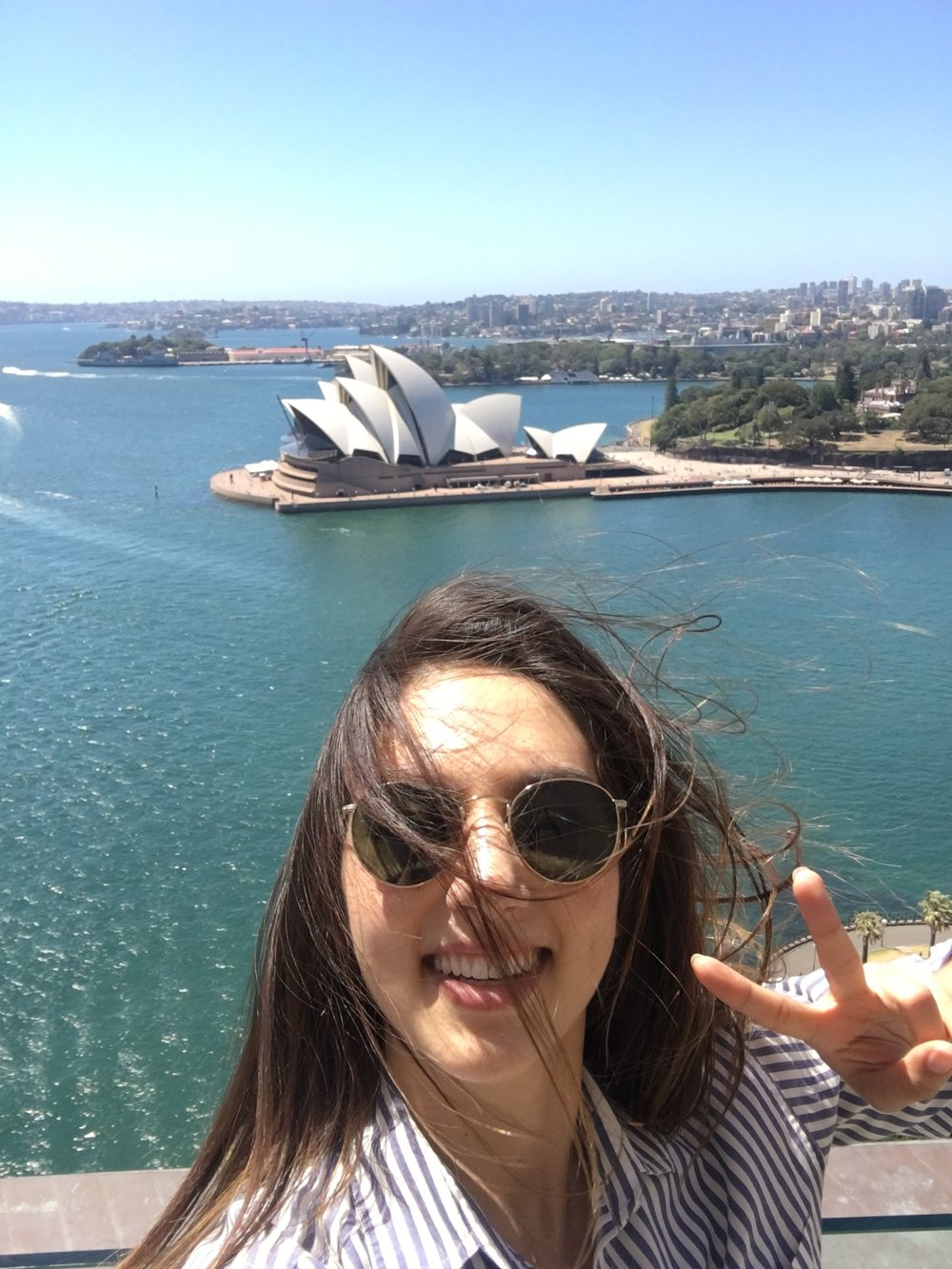 the wind couldn't stop me from taking a selfie with the sydney opera house!