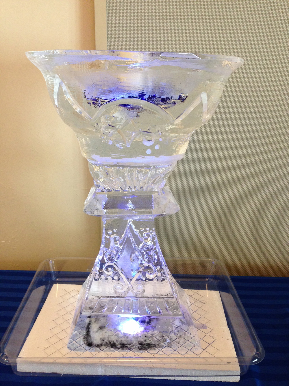 Goblet ice sculpture