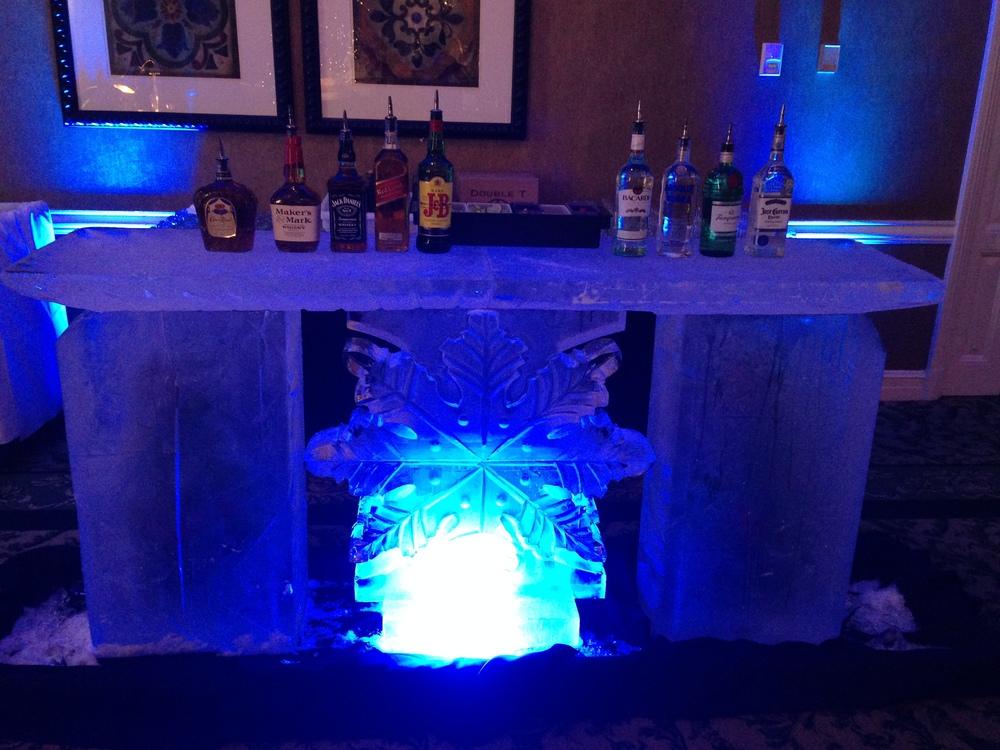 Winter wonderland themed ice bar