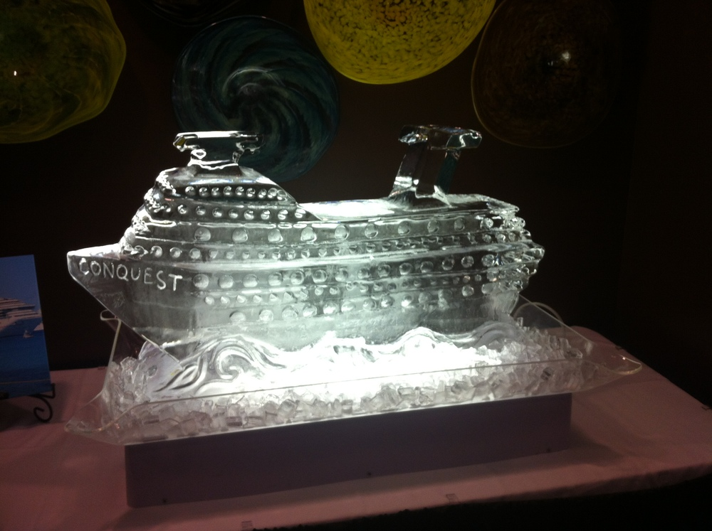 Cruise ship ice sculpture