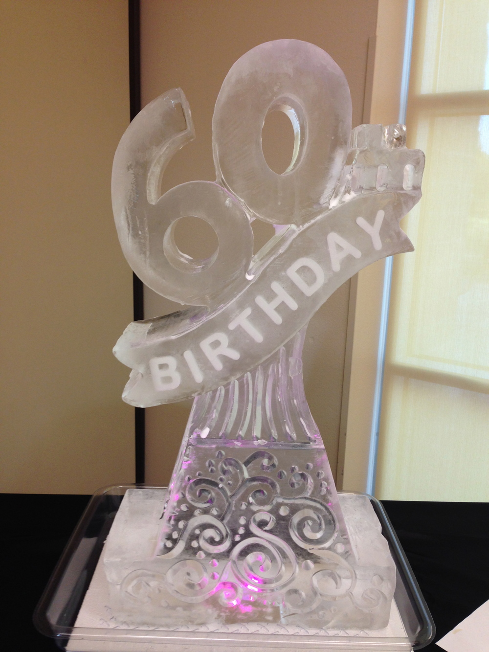60th Birthday ice sculpture