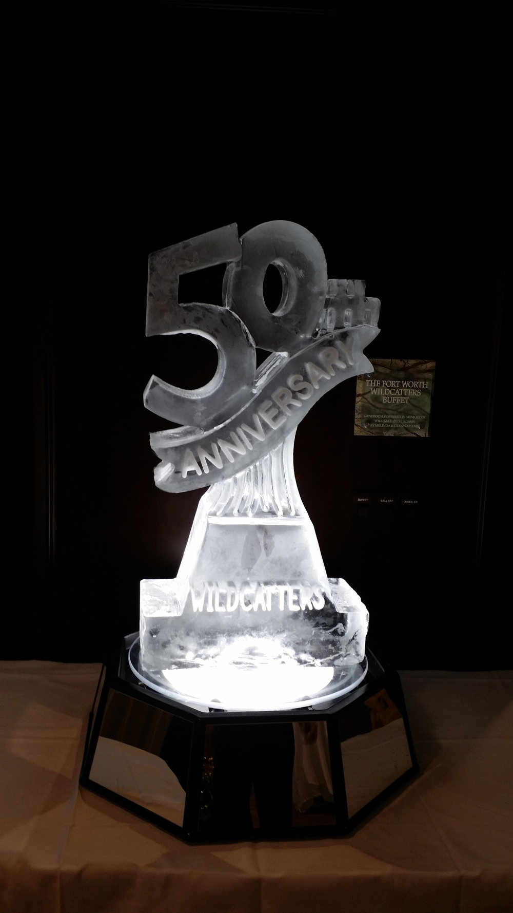 50th Anniversary ice sculpture