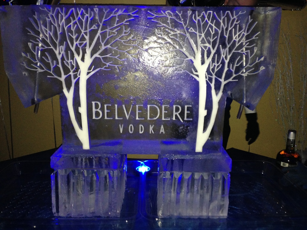 11) Belvedere Vodka Ice Sculpture