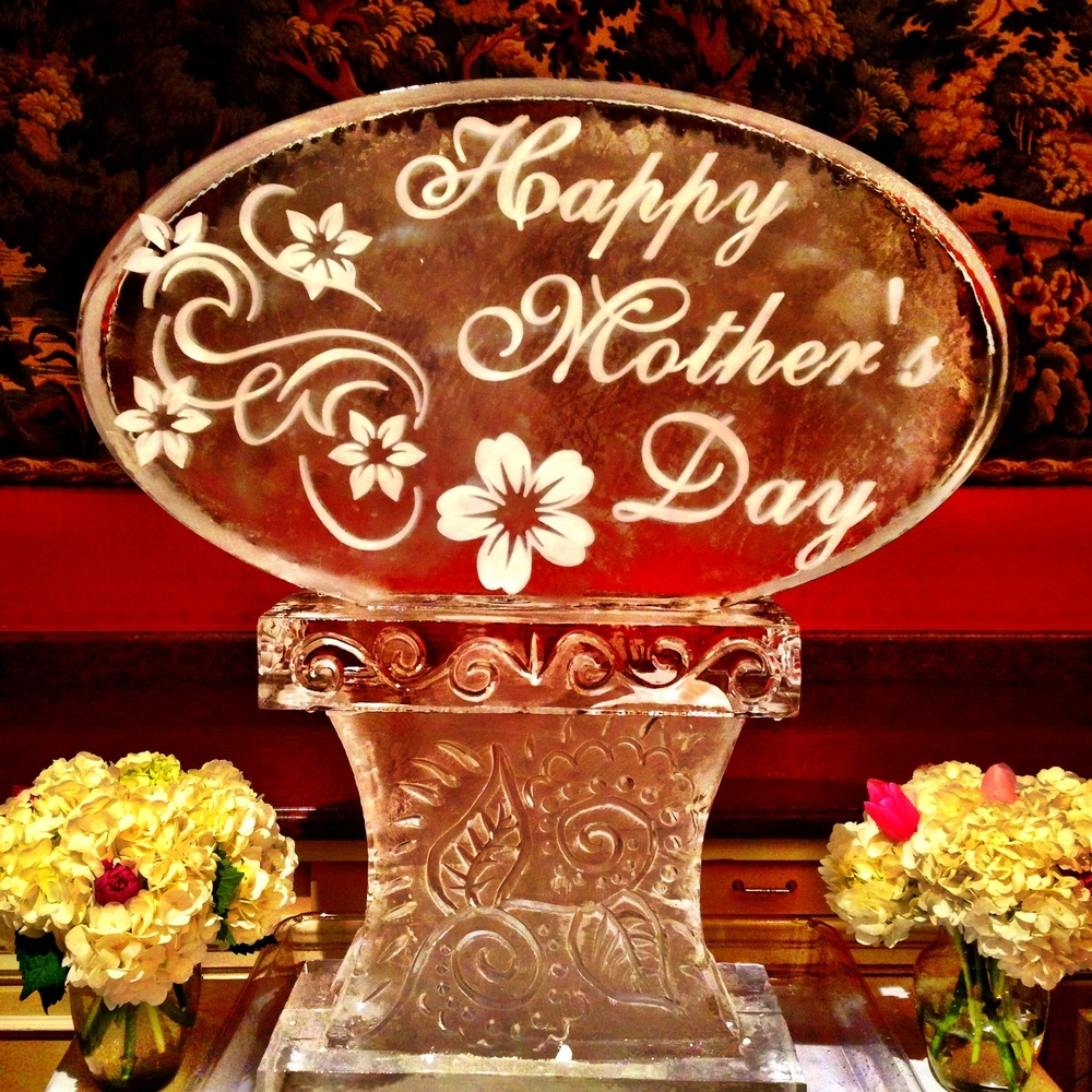 7) Happy Mother's Day Ice Sculpture