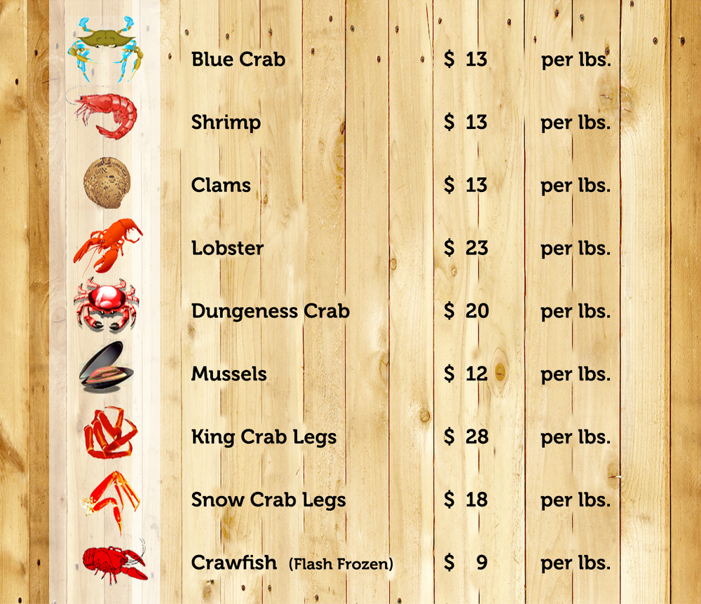 Angry Crab Shack - Market Seafood Pricing