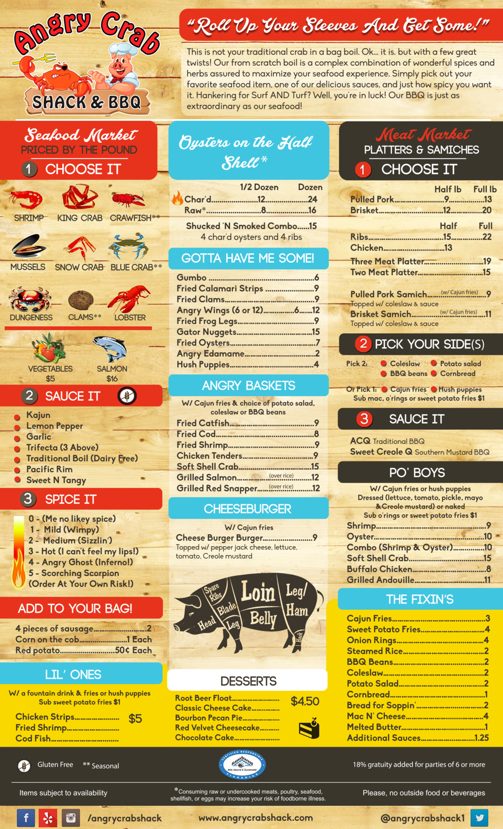 Angry Crab Shack - Phoenix - Menu