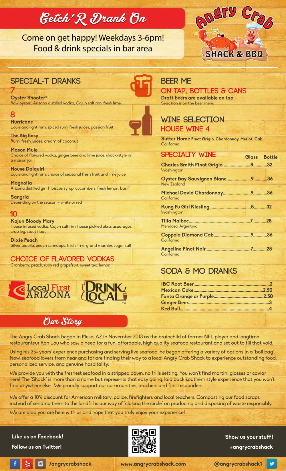 Angry Crab Shack - Ahwatukee - Beer Wine Menu