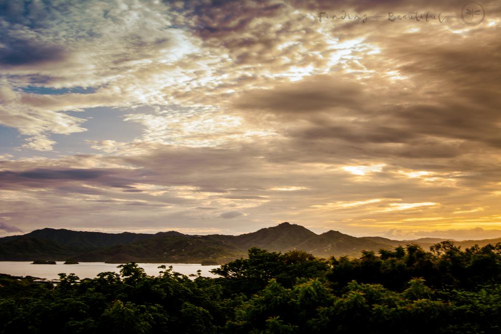First mornings sunrise.