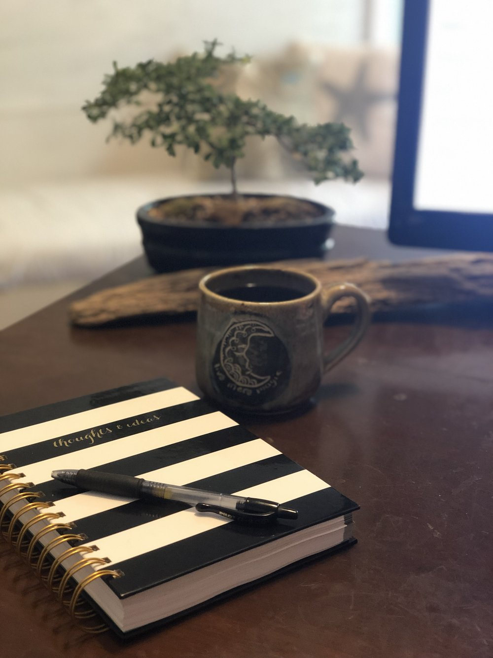 Coffee + my journal = A good morning