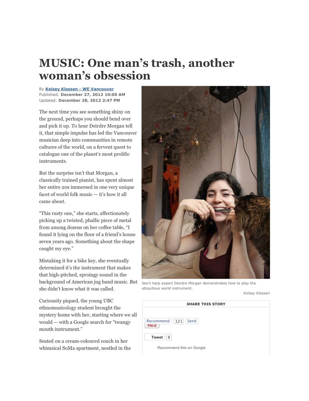 Westender article