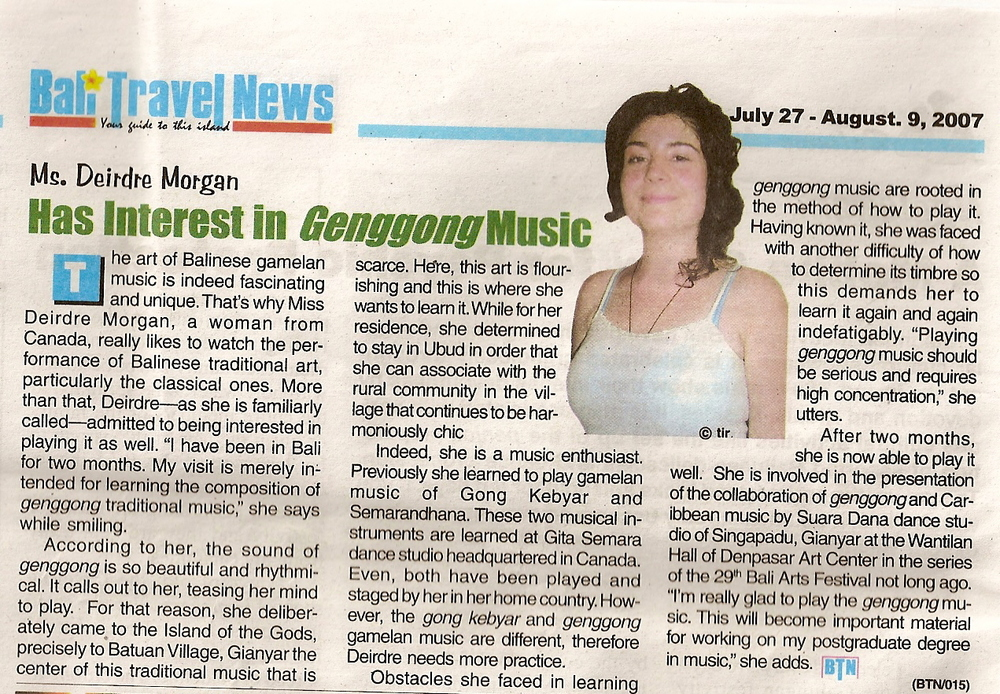 Ms. Deirdre Morgan Has Interest in Genggong Music.jpg