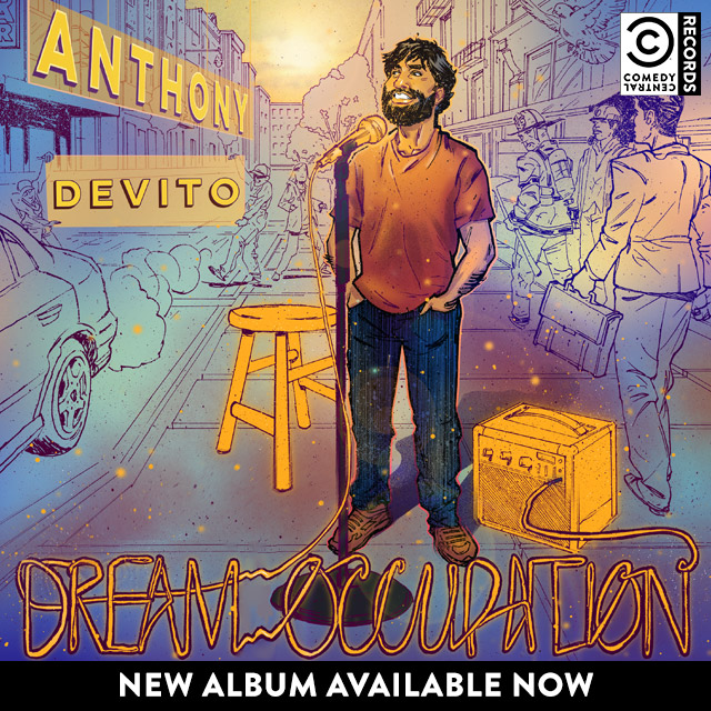 "on the bottom of the page are some LINKs TO MY DEBUT ALBUM ON COMEDY CENTRAL RECORDS ""DREAM OCCUPATION."" IT WAS RECORED AT THE CREEK AND THE CAVE, ARTWORK BY JOE KARG AND CHRIS BIVINS. I'M PROUD OF IT. I HOPE YOU LIKE IT. THANKS."