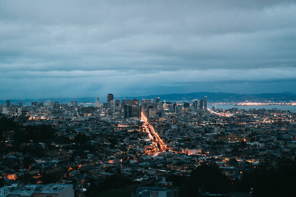 At the end of the day, a good view is always in order. Twin Peaks has an incredible view over the city, where you can see from Ocean Beach to the Golden Gate, all the way to the Bay Bridge and more. The twinkling lights of San Francisco remind me why this city will always be home.