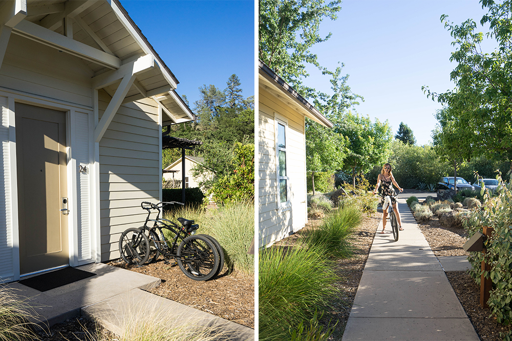 Every room has a set of bikes. We used ours both day and night to explore the property.