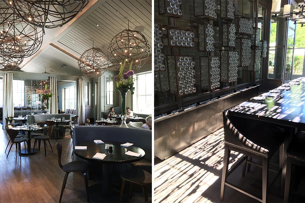 Interior views of the SolBar restaurant