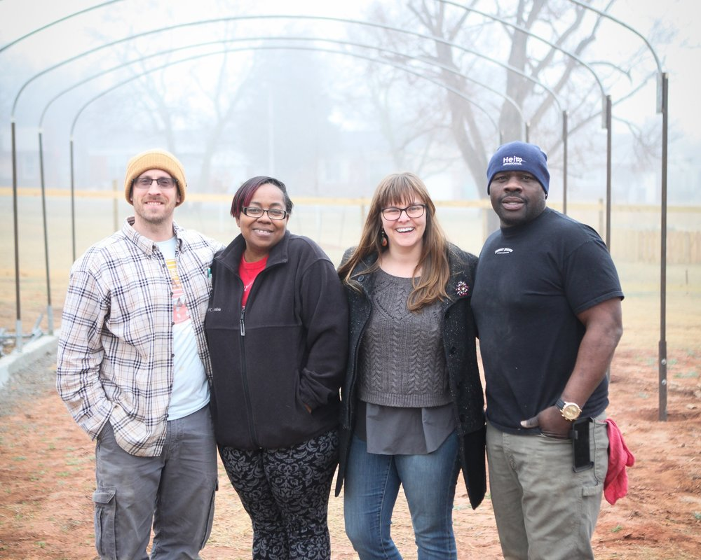 """GREENHOUSES - Our greenhouses are going to run off a state of the art aquaponics system which will be the """"powerhouse"""" behind our production. Aquaponic technology allows us to grow more than 80x the produce in the same square footage. This food will be marketed and sold to fund the business as well as generate income that gets reinvested into the community."""