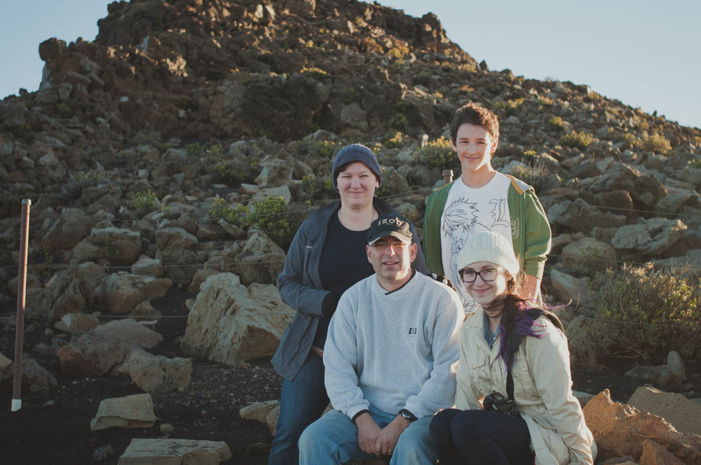 I owe so much to my family. This Image was taken back in 2013 on a trip to Maui, up at Haleakala to watch the sunset. Image by.. that random stranger who kindly offered to take our photo vs me setting it up on the tripod.