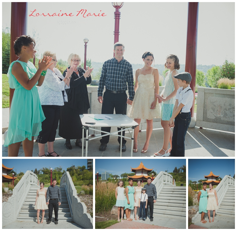 Brandy + Sean celebrate their love in a river valley ceremony with their children and witnesses.