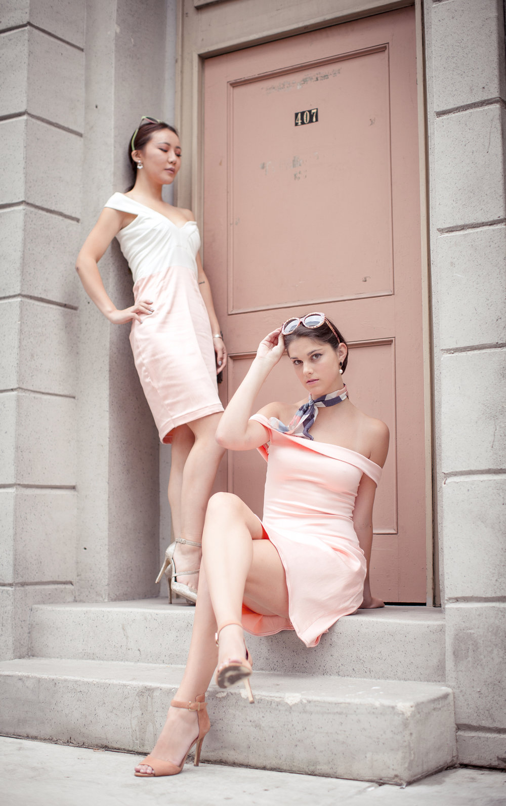 Pink Designer's Dress Editorial Photography