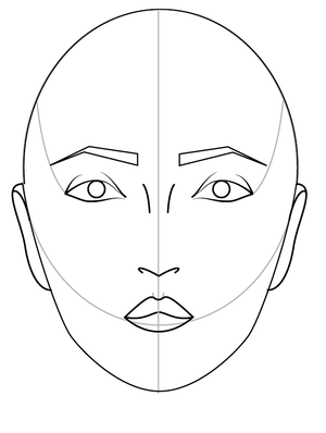 Easy Way To Draw The Face For Fashion Illustration And Sketching