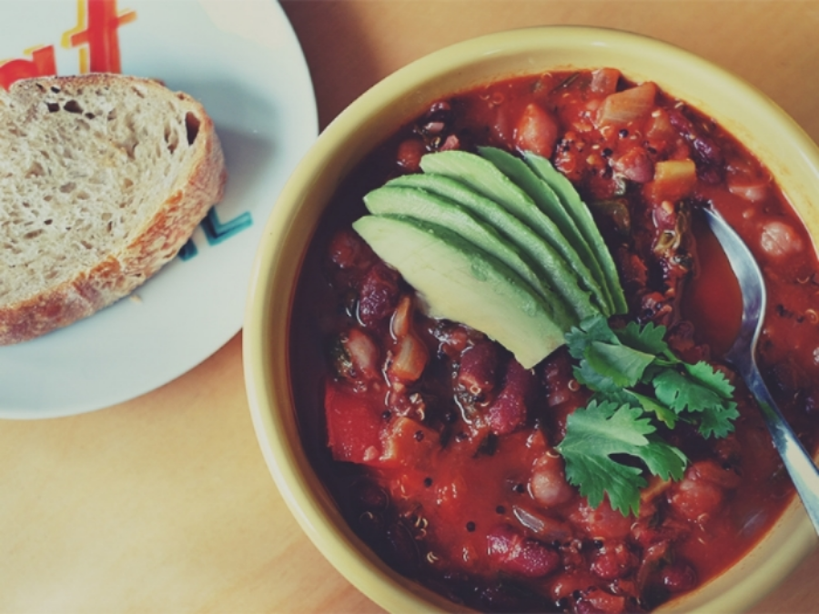 Sprouted three bean tomato stew