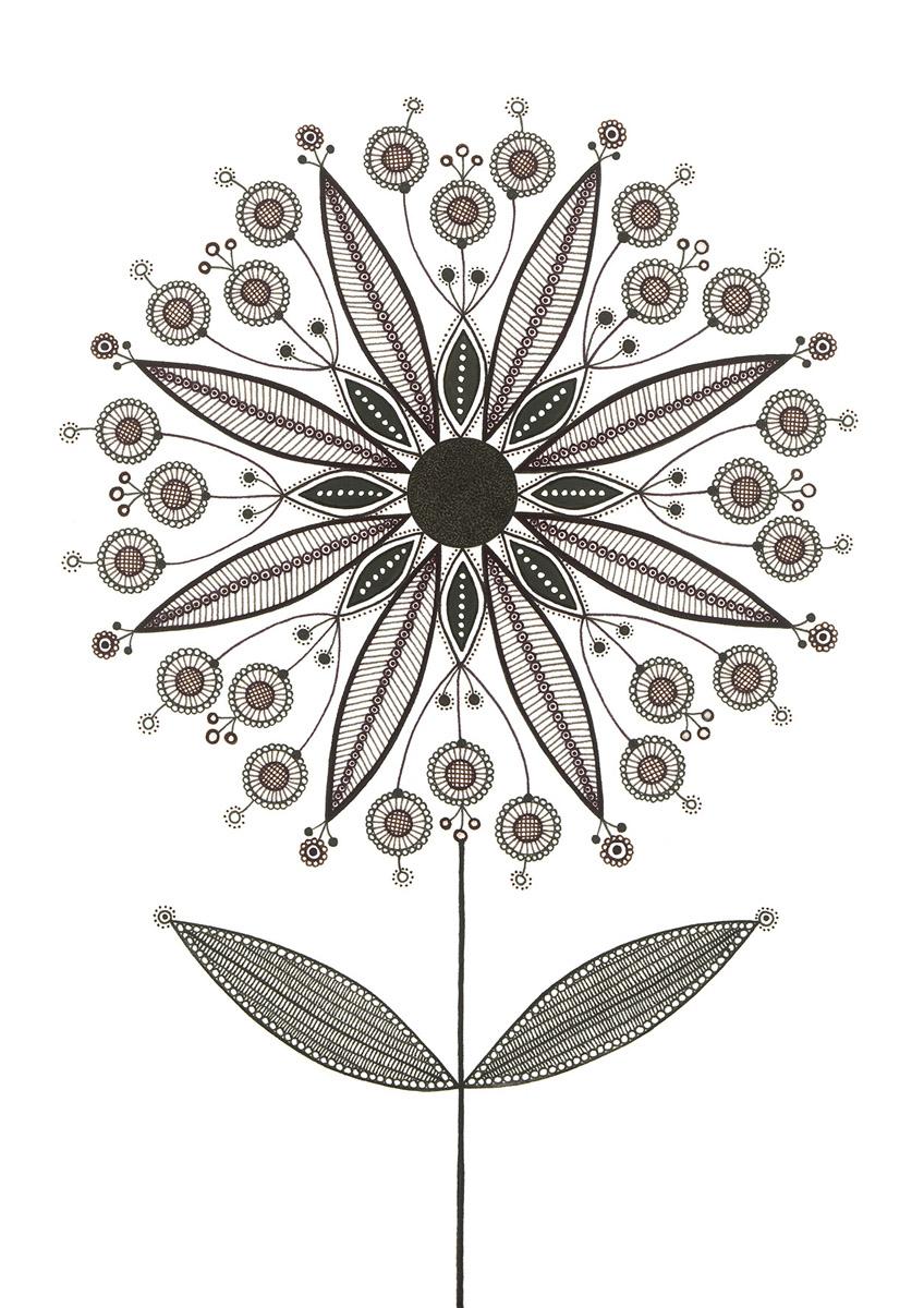 Blumengarten illustration 'Sternchen'