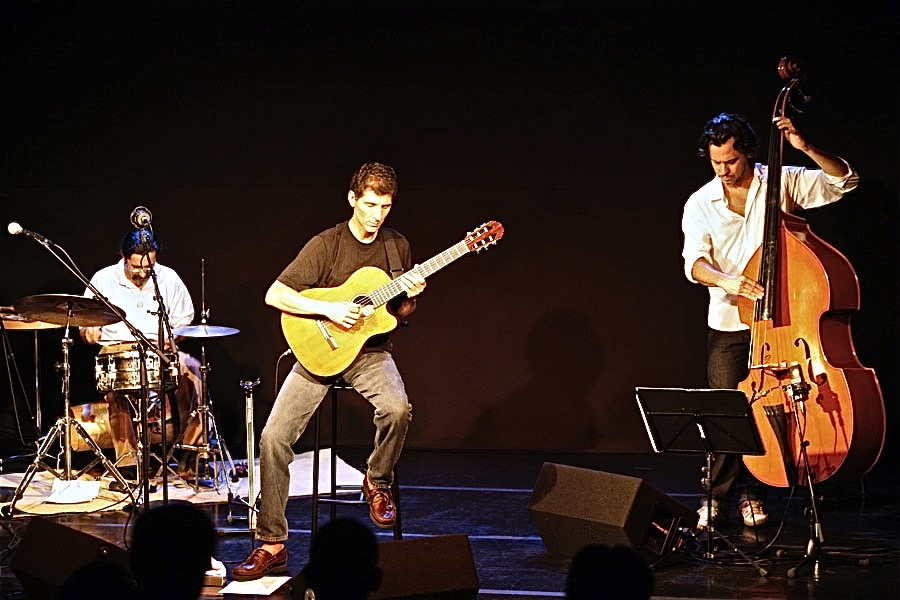 At Sesc Pinheiros in  Sāo Paulo with Joāo Parahyba and Zé Alexandre