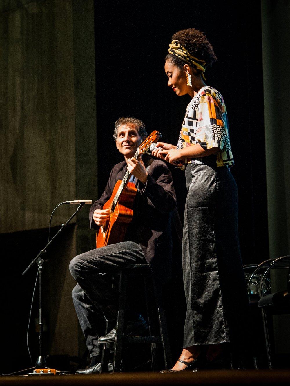 With Andreia Balbino at SESC Vila Mariana Sāo Paulo, Brazil