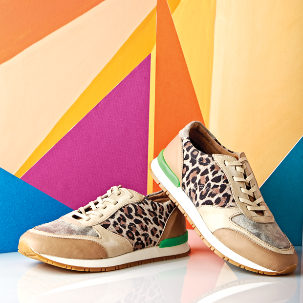 Photographed above are the Leopard everyday sneaker $69.99