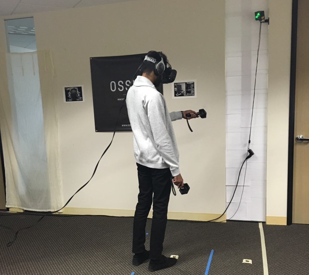 Experiencing the Vive for the first time