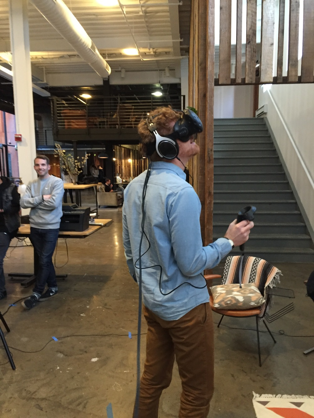 A new addition to our OSSIC Army demoing 3D audio for the first time at the Kickstarter office in Brooklyn, NY.