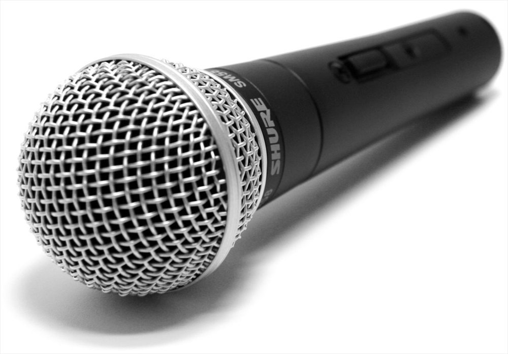 The Shure SM58, one of the most popular dynamic microphones.