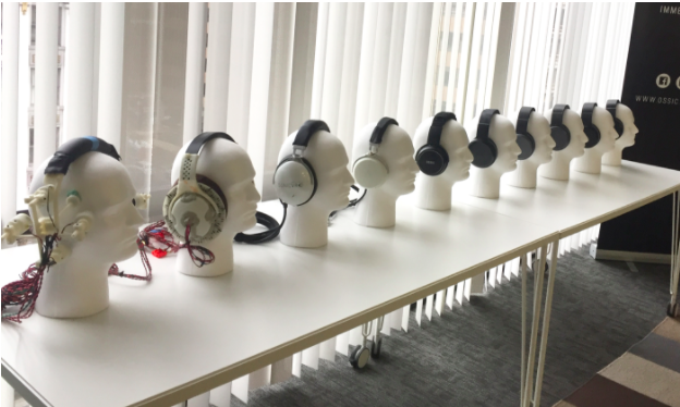 All OSSIC X prototypes to date, in order from left to right