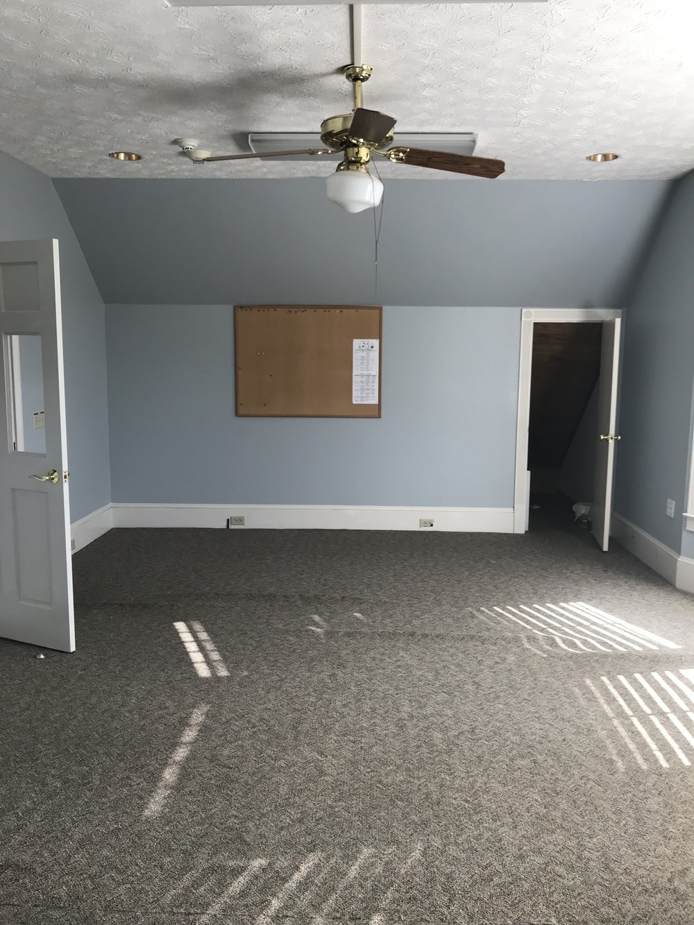 This is the room which will be converted into our filming studio.  Needs some TLC, some furniture, fixtures, and some basic video equipment and lighting.