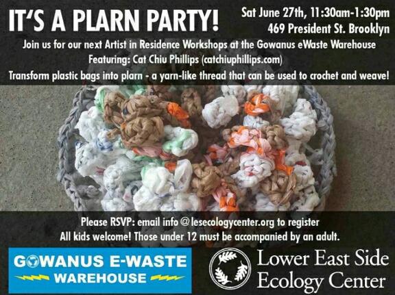 Plarn Party 6/27/2015