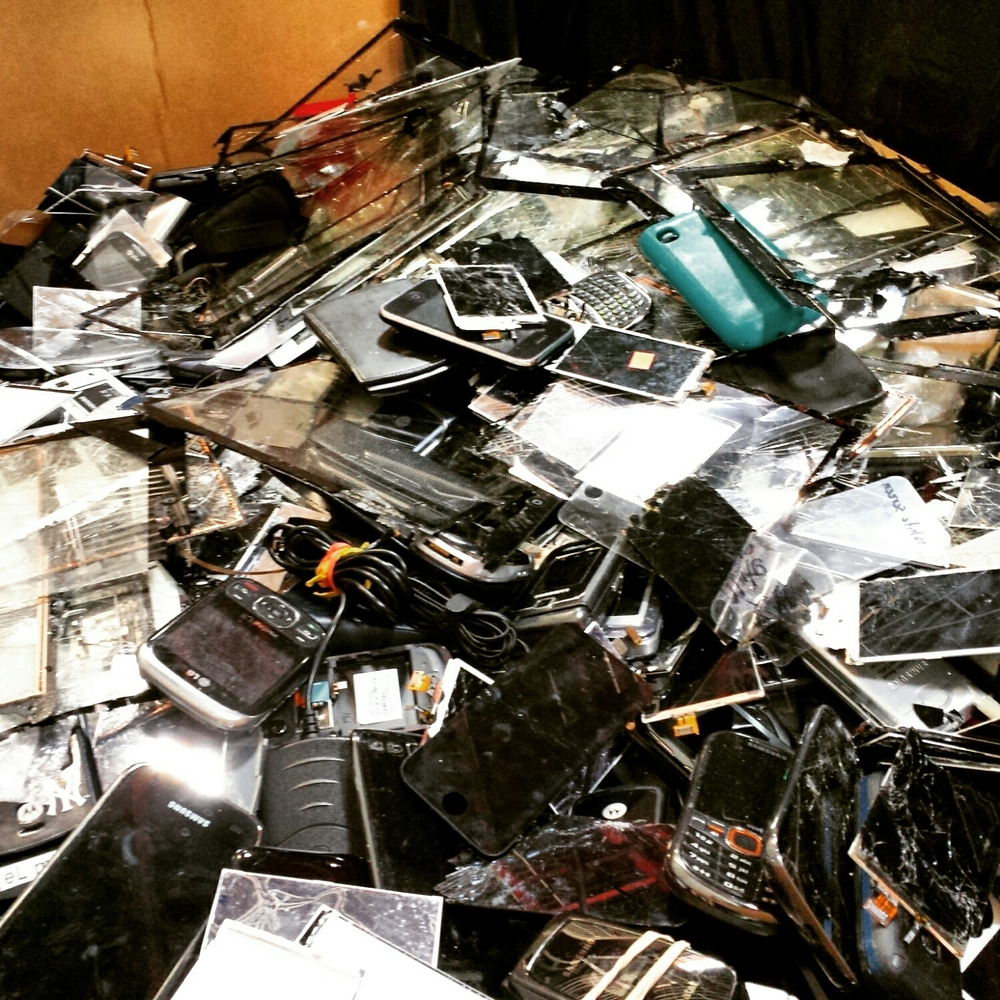 What to do will all these broken trashed phones...