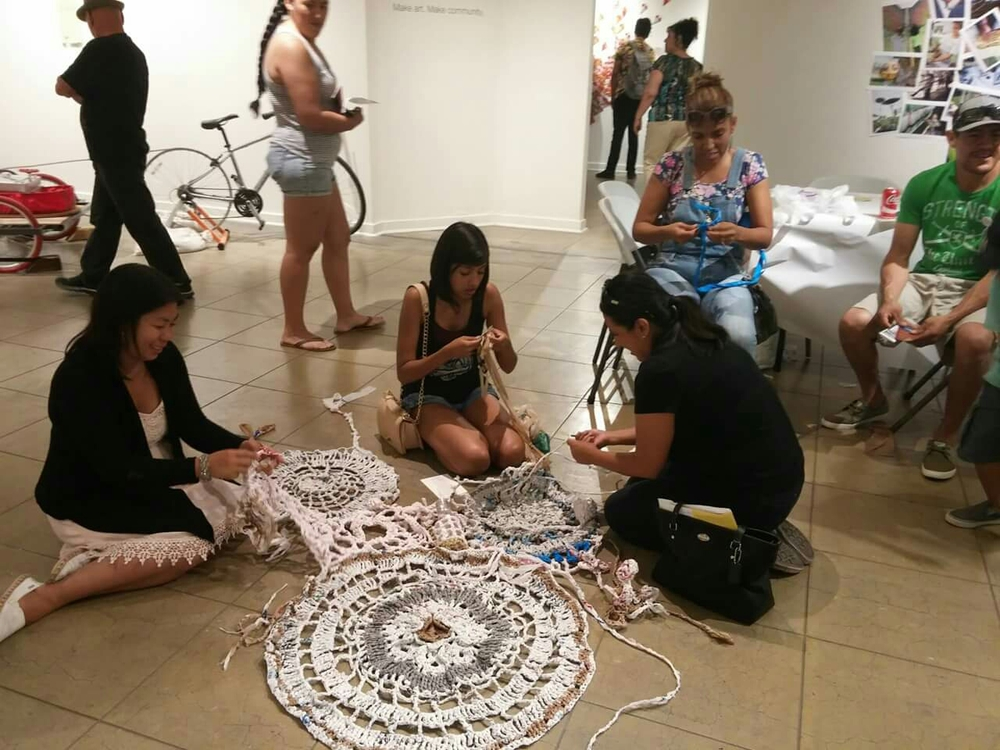 7/2/2015 Plarn Party during the Riverside Art Walk