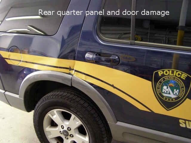 & Ford Explorer Rear Door and Fender Damage Repair u2014 State Auto Body Inc.