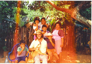 Kevin and the Rodriguez family, Santa Rosa, Misiones, Paraguay.