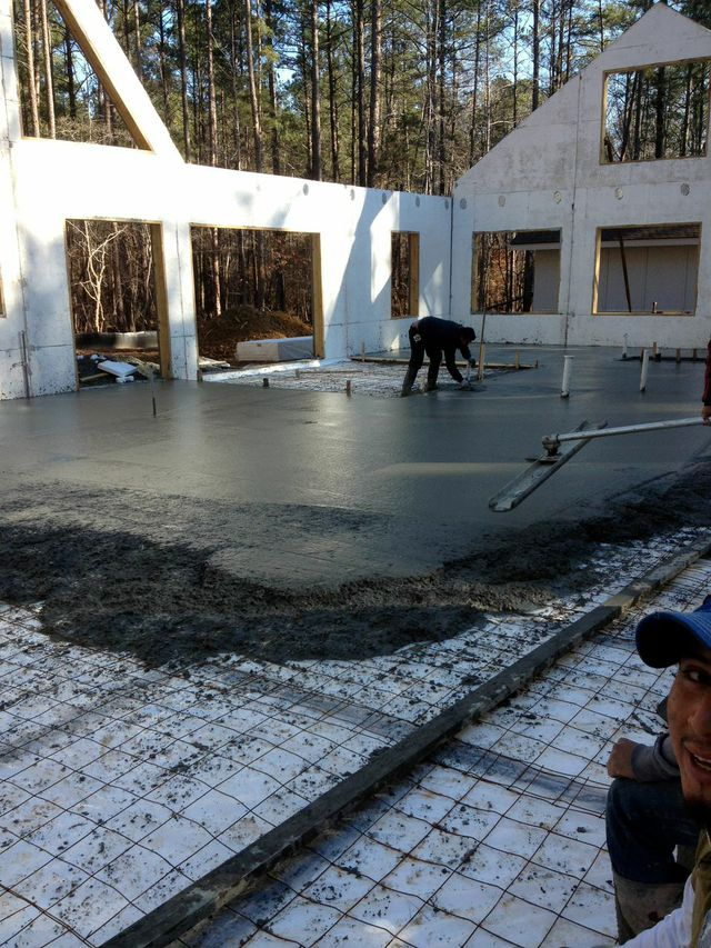 Super insulated slab for Net Zero Passive House