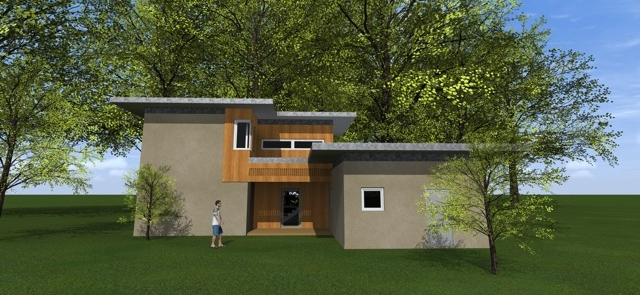 Three Net Zero Homes About To Be Underway Simultaneously Newphire - Contemporary-house-architecture-to-get-surroundings-of-nature
