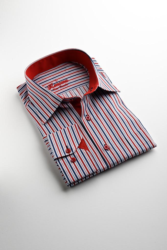 Renoma Business Shirt Blue Red Stripe — SIMON HART  85b6bc0e14cac