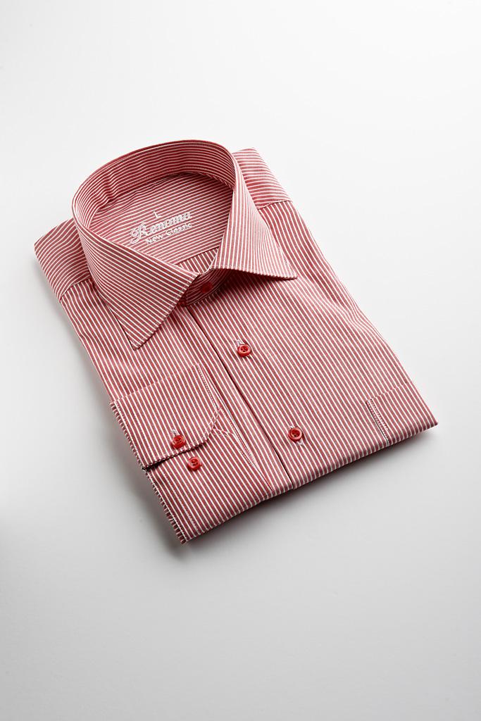 Renoma Business Shirt Red with White Self Stripe — SIMON HART  78b6504f3143a