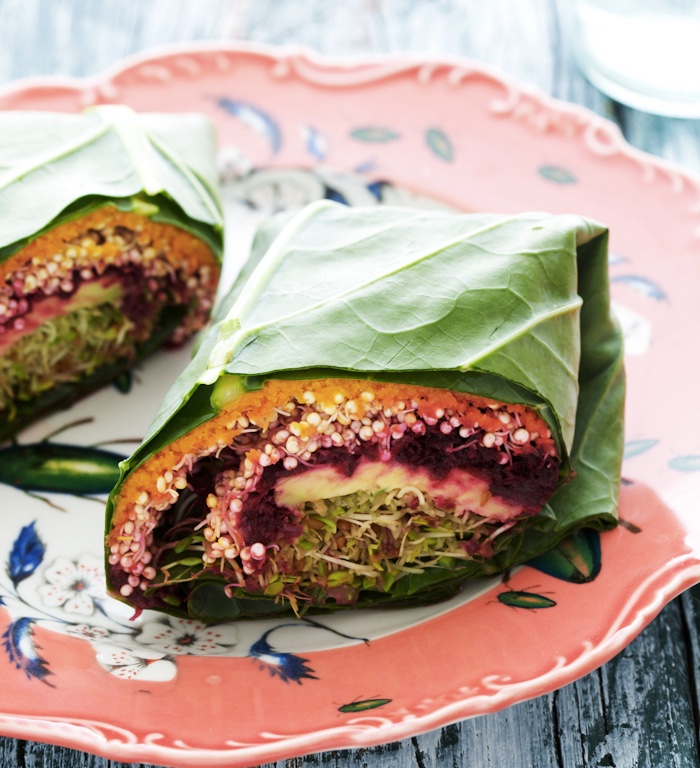 QUINOA COLLARD WRAPS