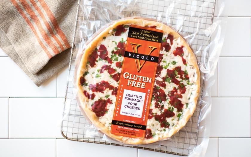 Vicolo Gluten Free Quattro Formaggi Corn Meal Crust Pizza