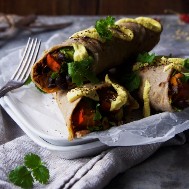 SPICED PUMPKIN BURRITO