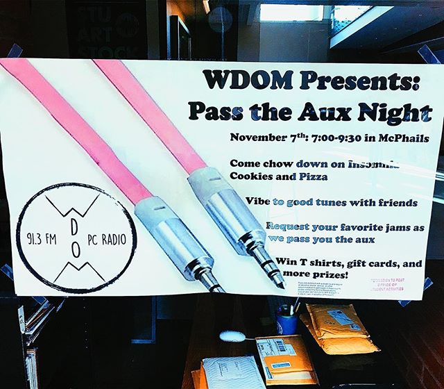 ⭐️About a week away from the WDOM PASS THE AUX NIGHT!! come to Mcphails November 7th for a chill night of sharing music, food and you can even win some prizes!!! see you there 🎤🎧⭐️