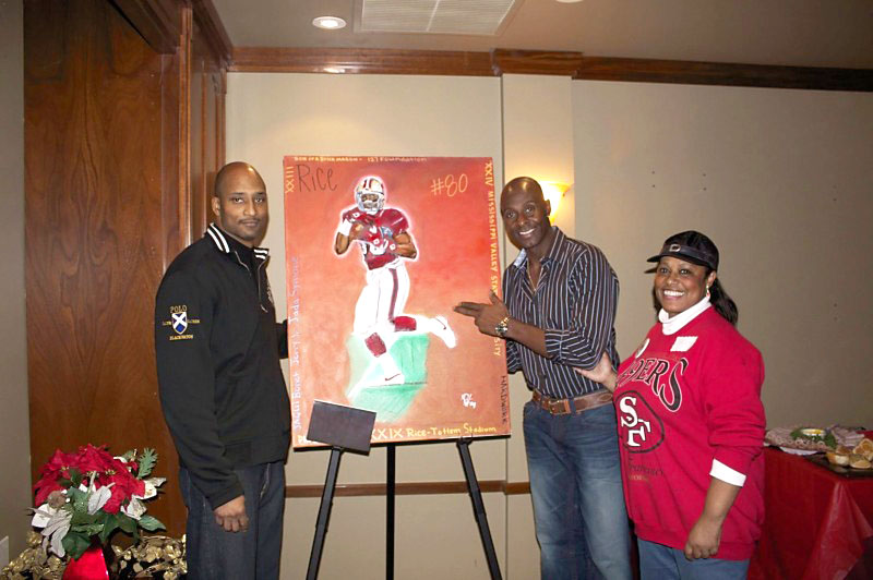 MII Jerry Rice & Gwen W. Jones Oil on canvas 20x40