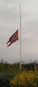 norway flag half-staff