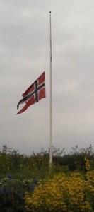 norway flag half-staff
